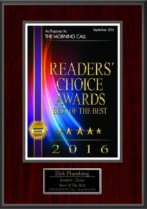 The Morning Call Readers Choice 2016 - Best Plumbing Company